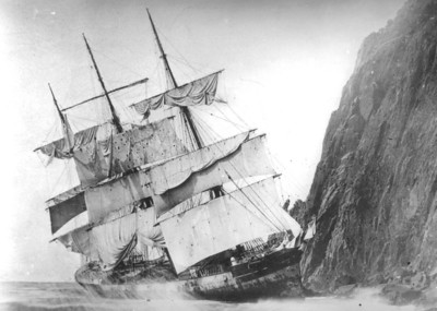 Did the captain deliberately sail onto the rocks, as some claimed, or get trapped in a current or wind pattern causing the accident?