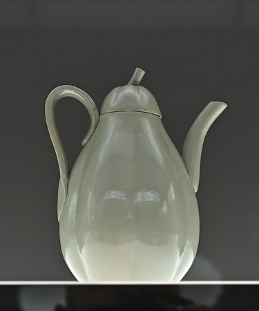 Gourd-shaped ewer, China, Zhejiang province, Yue kilns, Northern Song dynasty, 11th / 12th c.