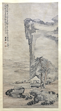 Studying by lamplight by Huang Shen (1687-after 1770), China, Qing dynasty, 18thc.