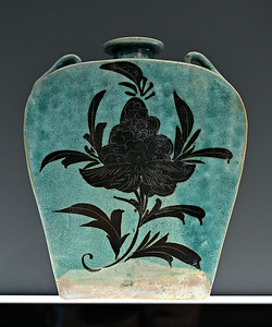 Flask, China, Hebei province (?), Yuan dynasty, dated 1337