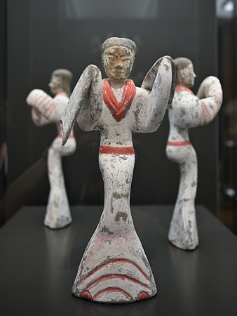 Three dancing ladies, China, Shaanxi / Henan region, Western Han dynasty, 2nd c. BC