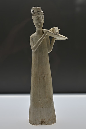 Female attendant, North China, Tang dynasty, 7th c.