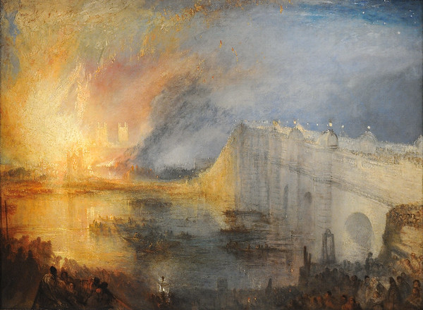 The Burning of the Houses of Parliament (1834/35) by J. M. William Turner