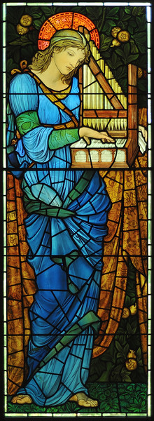"""Saint Cecilia"" (c. 1900), made by Morris & Co, based on a design by Edward Burne-Jones"