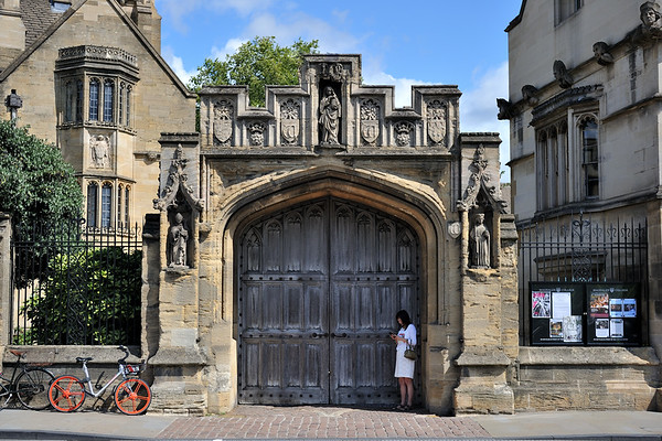 College gate on High Street