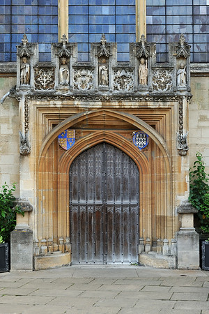 Chapel gate on St John's quad