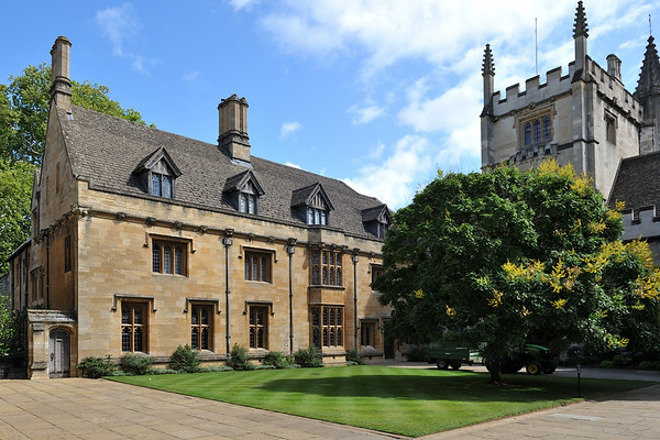 President's lodgings on St John's quad