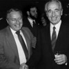 Assemblyman Edward Abramson and Shimon Peres