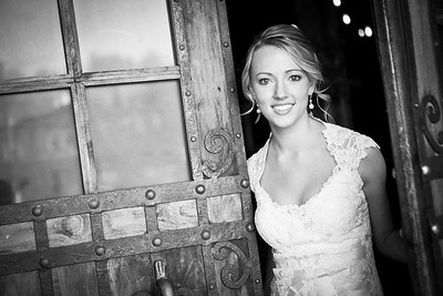 Biltmore Hotel black & white bridal photo