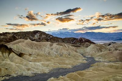 Sunset at Zabriskie Point, Death Valley, California