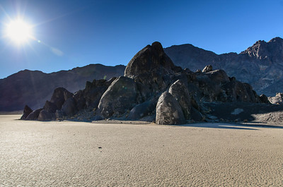 The Grandstand Rock Formation in Racetrack Playa, Death Valley, California.