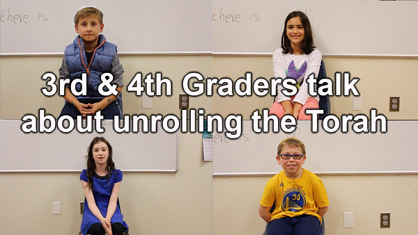 3rd & 4th graders talk about the Torah unrolling experience.