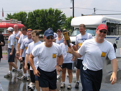 Augusta County hands off the torch to Waynesboro at Willy's on Rt. 250.