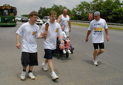Staunton hand-off to Augusta County Law Enforcement Runners
