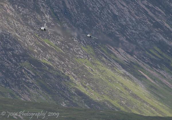ZE288/'HA' (111 SQN marks) & ZE734/'JU' (111 SQN Special) Tornado F.3 x2 - 10th June 2009.