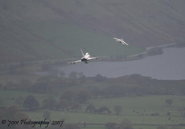 ZH917 (Saudi TSP) Tornado IDS & ZJ700 (Unmarked) Typhoon FGR.4 - 1st November 2007.