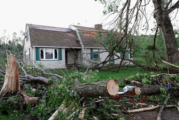 Willard Rd, Sturbridge early the next morning after the tornado went through.