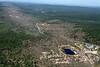 Aerial photo taken 6/7/2011, Brimfield, MA tornado  - Looking northwest, Rte 20 and Village Green Family Campground