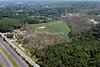 Aerial photo taken 6/7/2011, Sturbridge, MA tornado - Looking northeast, across Rte 84 to Willard Rd in the distance.