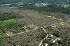 Aerial photo taken 6/7/2011, Brimfield, MA tornado  - Looking northeast, Haynes Hill Rd area.