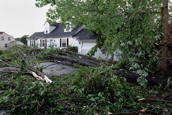 Willard Rd, Sturbridge early the next morning after the tornado went through.