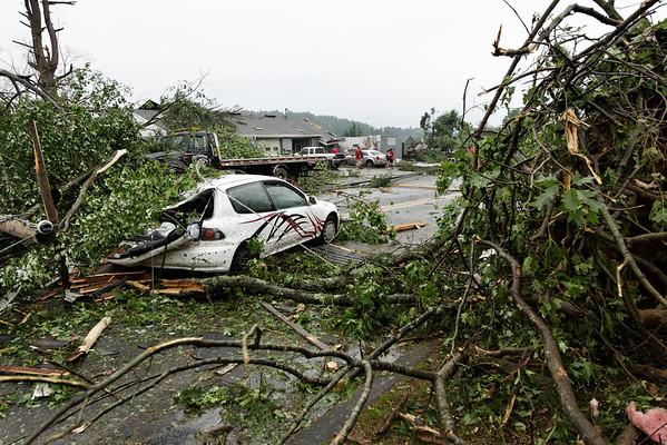 Sturbridge Auto Body - Rte 131, Sturbridge, MA minutesafter the tornado went through.