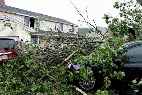 Willard Rd, Sturbridge minutes after the tornado went through.