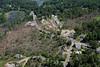 Aerial photo taken 6/7/2011, Sturbridge, MA tornado - Looking northeast towards Willard Rd.