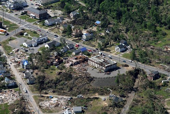 Aerial photo taken 6/7/2011, Monson, MA tornado.