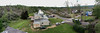 Willard Rd, Sturbridge, MA panorama of the damaged houses.