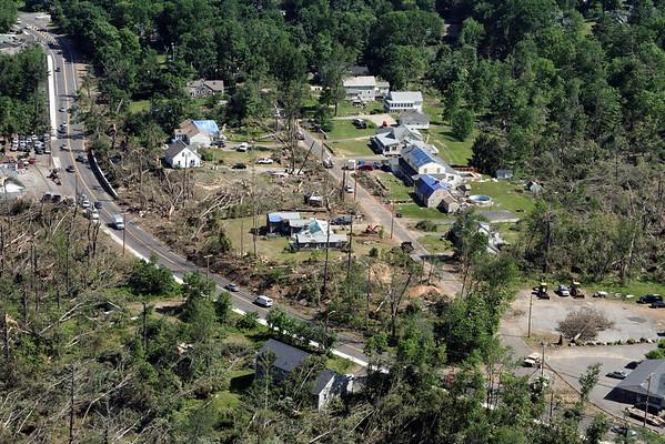 Aerial photo taken 6/7/2011, Sturbridge, MA tornado - Willard Rd area.