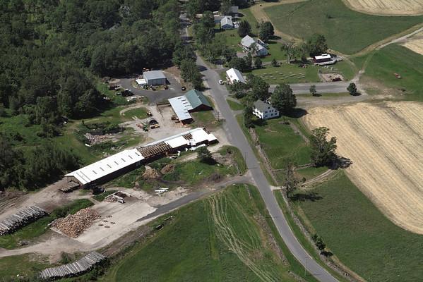 Aerial photo taken 6/7/2011, Monson, MA tornado  - West View Farms.