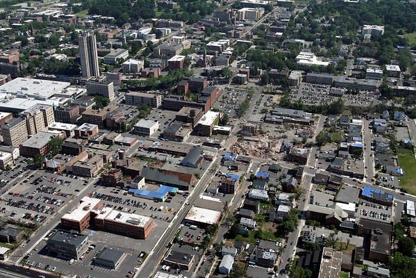 Aerial photo taken 6/7/2011, Springfield, MA tornado.