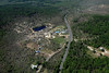 Aerial photo taken 6/7/2011, Brimfield, MA tornado  - Looking west, Rte 20 and Village Green Family Campground