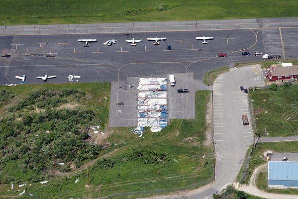 Aerial photo taken 6/7/2011, Southbridge, MA tornado - Southbridge Airport.