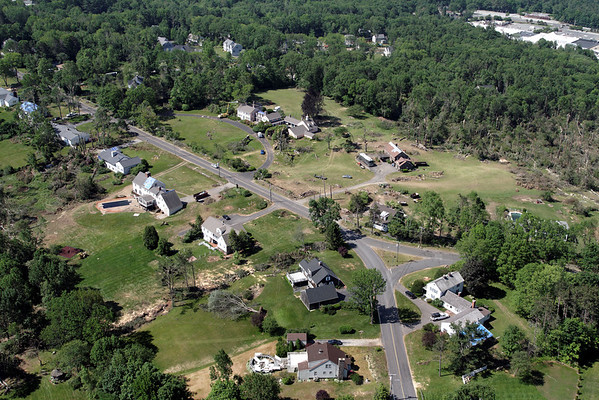 Aerial photo taken 6/7/2011, Sturbridge, MA tornado - Fiske Hill
