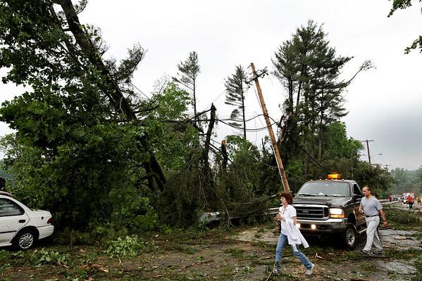 Rte 131, Sturbridge, MA minutes after the tornado went through.