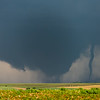 A pair of tornadoes track across open country near Wisner, NE, on June 16, 2014.