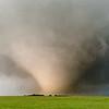 A violent EF4 wedge tornado hurls debris across the rolling hills northeast of Abilene, KS, on May 25, 2016.