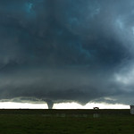 A supercell storm blew up west of Katie and Wynnewood Oklahoma on May 9th, 2016 and produced at least 2 tornadoes. Both of these tornadoes were very significant.   EF 4 tornado passes near ...