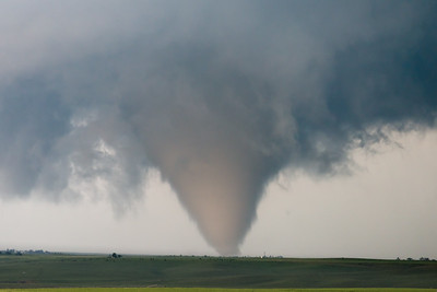 A large tornado churns across the High Plains of eastern Colorado near Stratton on June 5, 2015.