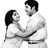 "Jayalalitha and Shivaji Ganesan in Sujatha Cine Arts film ""Engirindho Vandhal""."