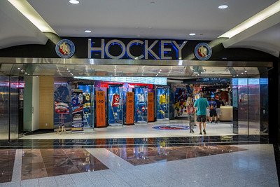 The entrance to the Hockey Hall of Fame.