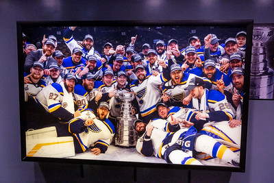 Photo of  Stanley Cup champions at the Hockey Hall of Fame. This one is for Tim.