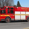 Squad 143<br /> <br /> Shop #: 28012<br /> Cab/Chassis: 2004 Spartan Gladiator Classic<br /> Manufacturer: Seagrave (Canada)<br /> Entered Service: May 1, 2005<br /> <br /> Written-off following accident, late 2012. <br /> <br /> Photo by Kevin Hardinge