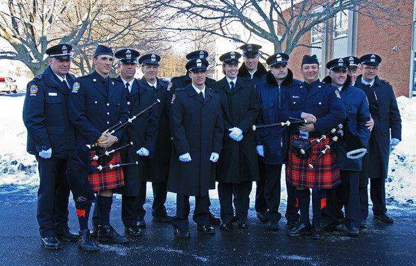 TFS members in attendance for slain firefighter Michael Chiapperini's funeral in Webster, NY.  Photo by Cody Law.