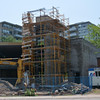 June 10, 2015 - Construction continues on the new Toronto Fire Station 135, Chaplain Crescent, north of Eglinton Avenue West. <br /> <br /> Photo by Larry Thorne.