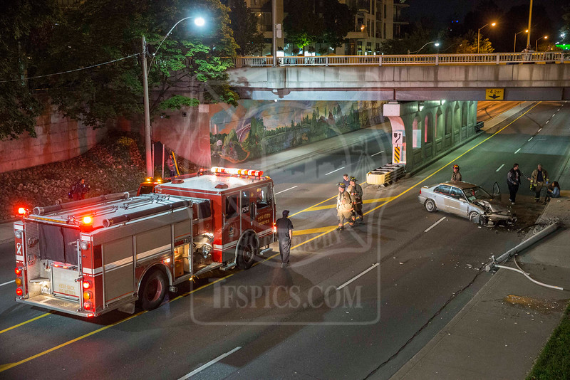 Vehicle accident - Mt. Pleasant Rd. & Bloor St. W.<br /> <br /> Photo by Kevin Hardinge