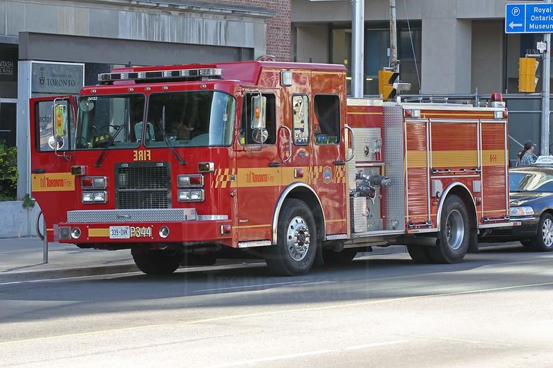 Pumper 344 on Bloor St. West.<br /> <br /> Photo by Kevin Hardinge