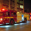 Pumper 333 on the scene of high-rise alarms at 50 Lombard St.<br /> <br /> Photo by Kevin Hardinge